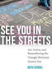 Book cover showing colorful, chalked sidewalks