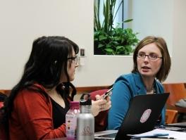 Rachel Winter and Gwendolyn Gilson in conversation.