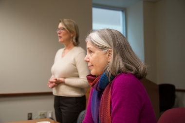 Obermann Center Director Teresa Mangum visits the Institute.